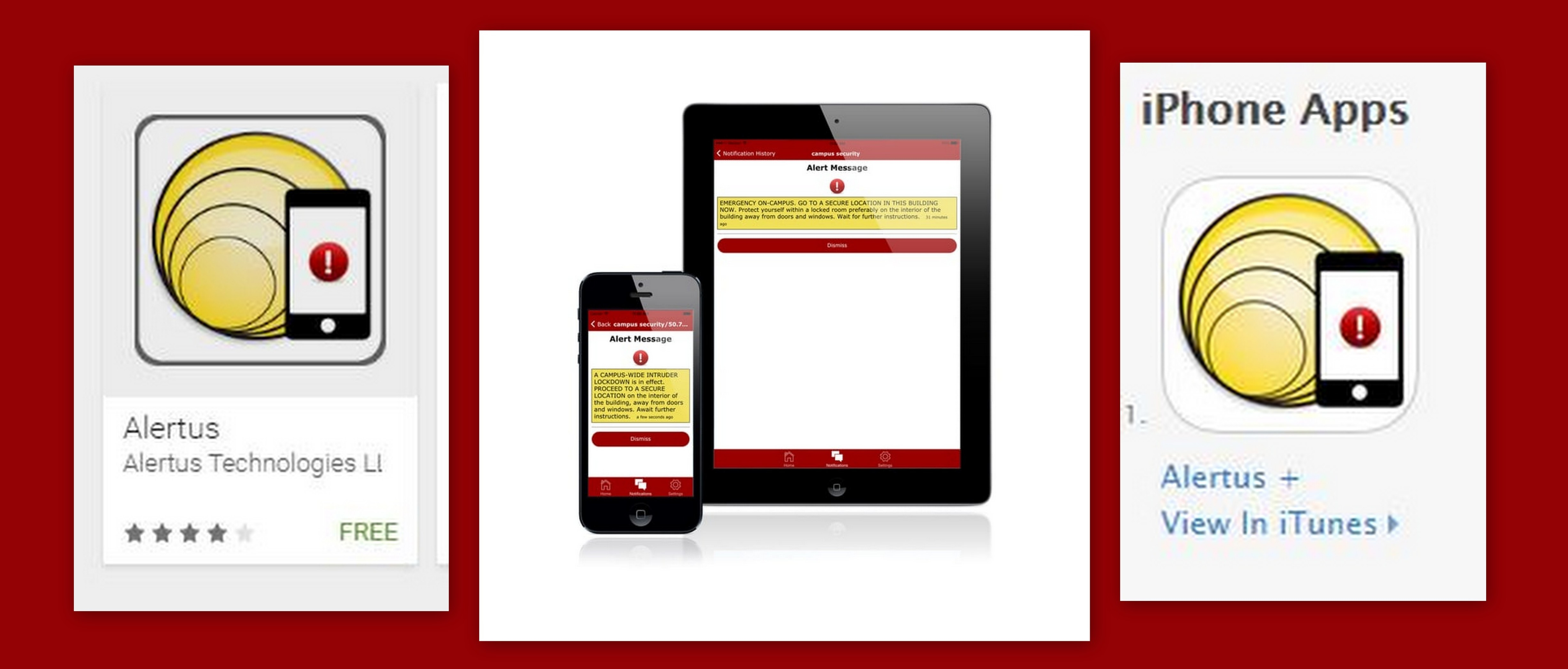 Alerus on tablet and phone