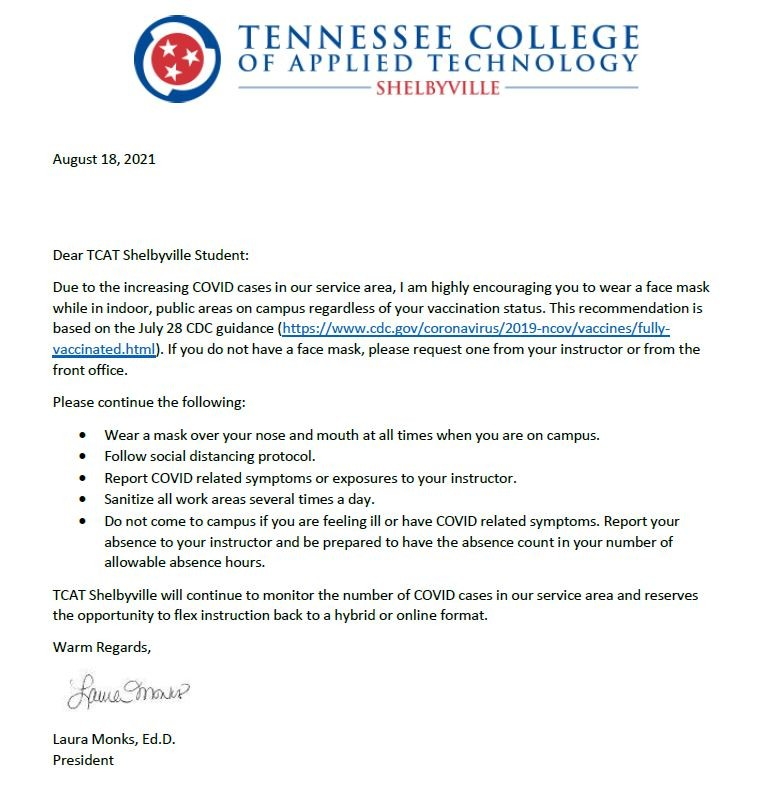 Letter to Student Aug 18 2021