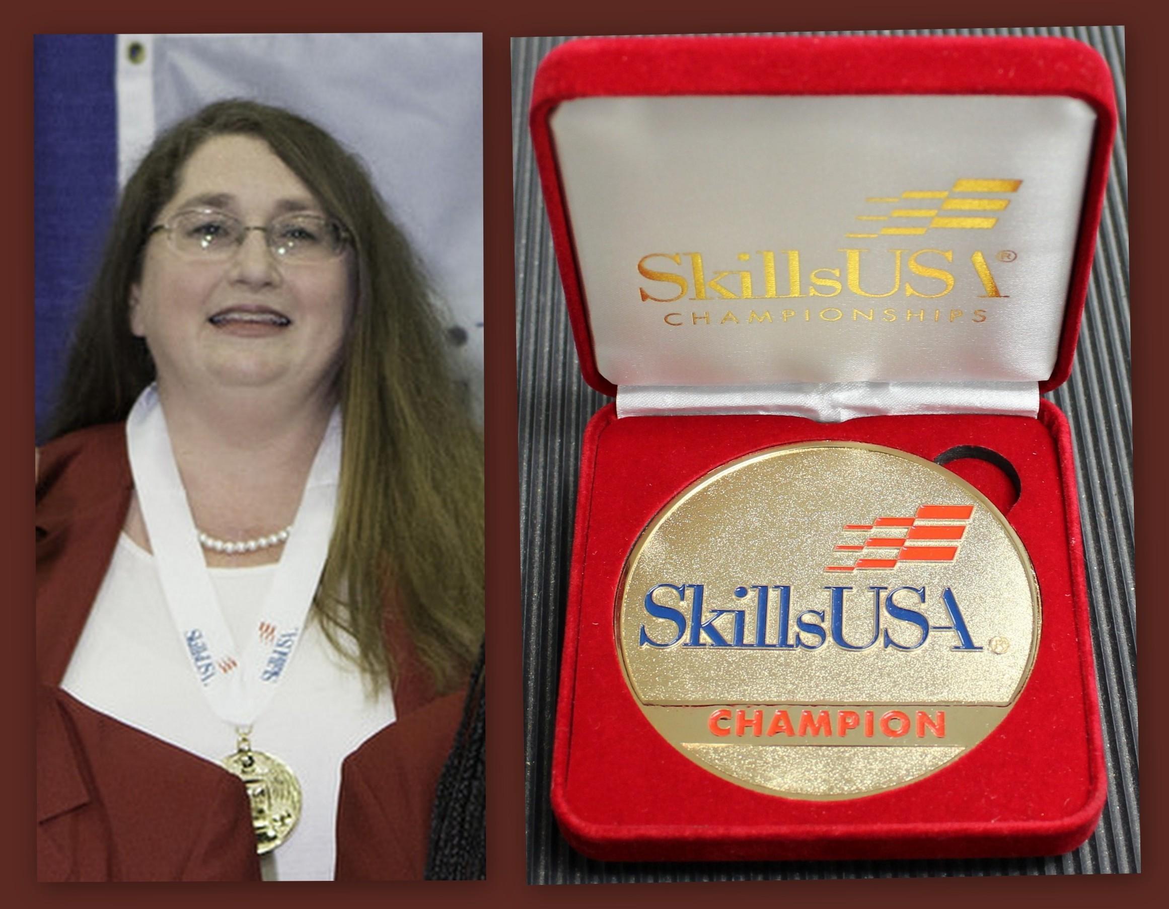 Jennifer McCarty SkillsUSA Medal