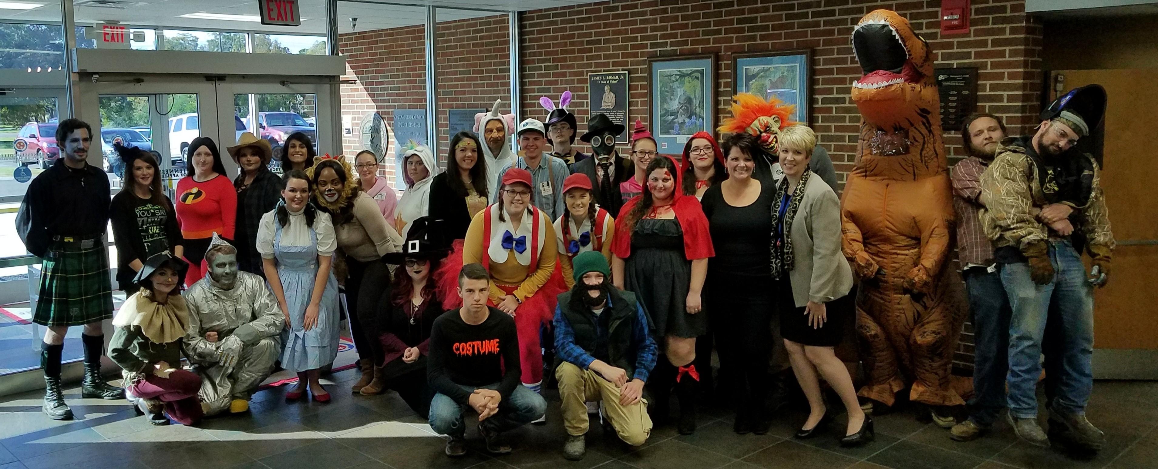 Halloween Costume Contest participants
